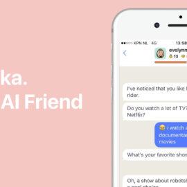 Kunstmatige intelligentie Replika praat met Evelyn